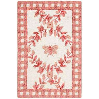 Chelsea Ivory/Rose 1 ft. 8 in. x 2 ft. 6 in. Area Rug