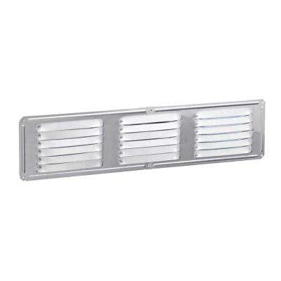 Under-eave 16 in. x 4 in. Louvered Aluminum Soffit Vent in Mill (Sold Soffit Vent in 24-Pieces/Carton Only)
