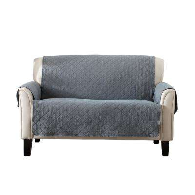 Laurina Collection Storm Grey Stonewashed Reversible Loveseat Furniture Protector
