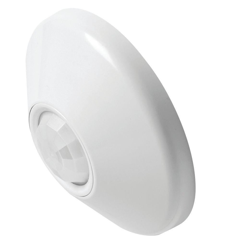 Good Lithonia Lighting Ceiling Mount 360° Passive Infrared Small Motion Sensor    White