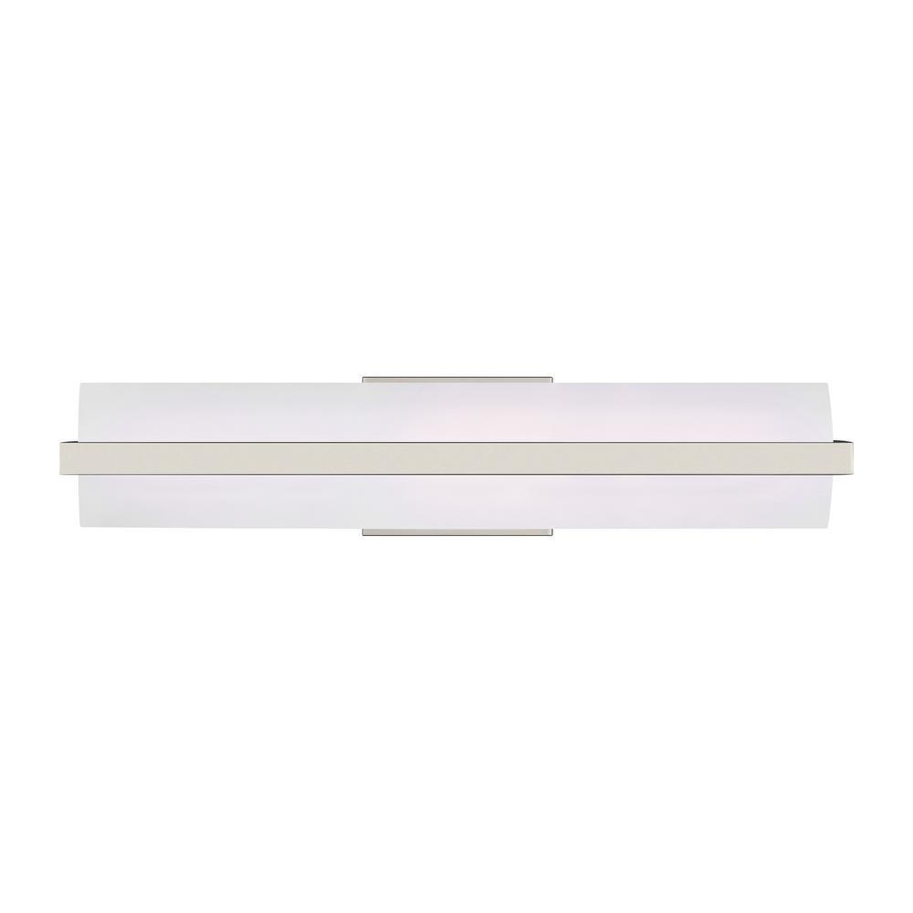 Sea Gull Lighting East Benton 22-Watt Brushed Nickel Integrated LED Bath Light
