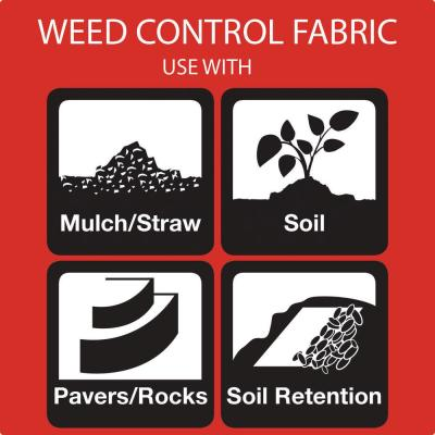 4 ft. x 100 ft. Heavy-Duty Polyester Weed Barrier Landscape Fabric