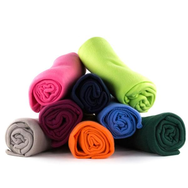 50 in. x 60 in. Multicolored Super Soft Fleece Throw Blanket (Set of 24)