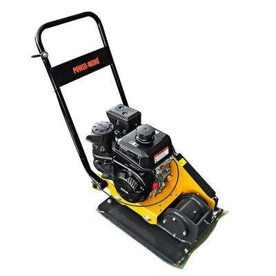23 in. x 15.75 in. 6 HP Plate Compactor with Rubber Pad and Movement Trolley