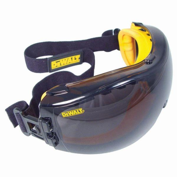 Safety Goggle Concealer with Smoke Anti-Fog Lens
