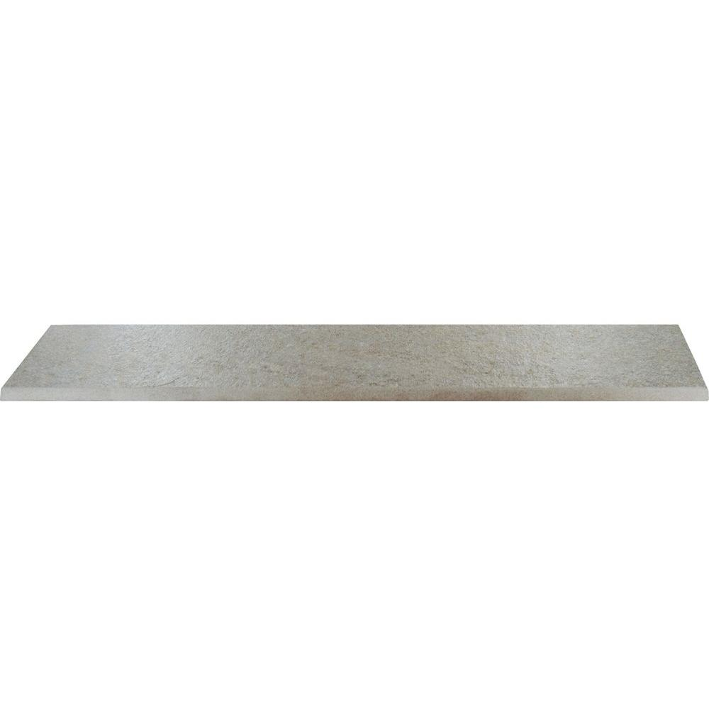 MS International Valencia Grey 3 in. x 18 in. Bullnose Porcelain Wall Tile (7.5 ln. ft. / case)-DISCONTINUED