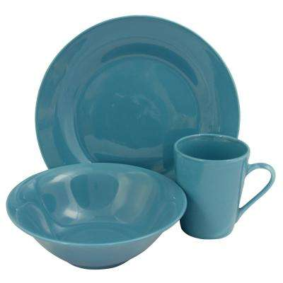 Carlton 12-Piece Blue Dinnerware Set