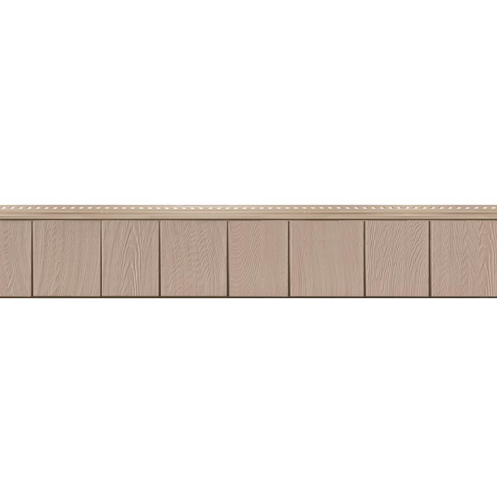 8-1/2 in. x 60-3/4 in. Harvest Shade Engineered Rigid PVC Shingle Panel 7.5 in. Exposure (32 per Box)