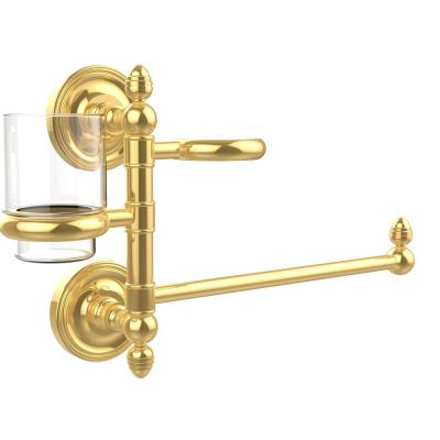 Prestige Regal Collection Hair Dryer Holder and Organizer in Unlacquered Brass