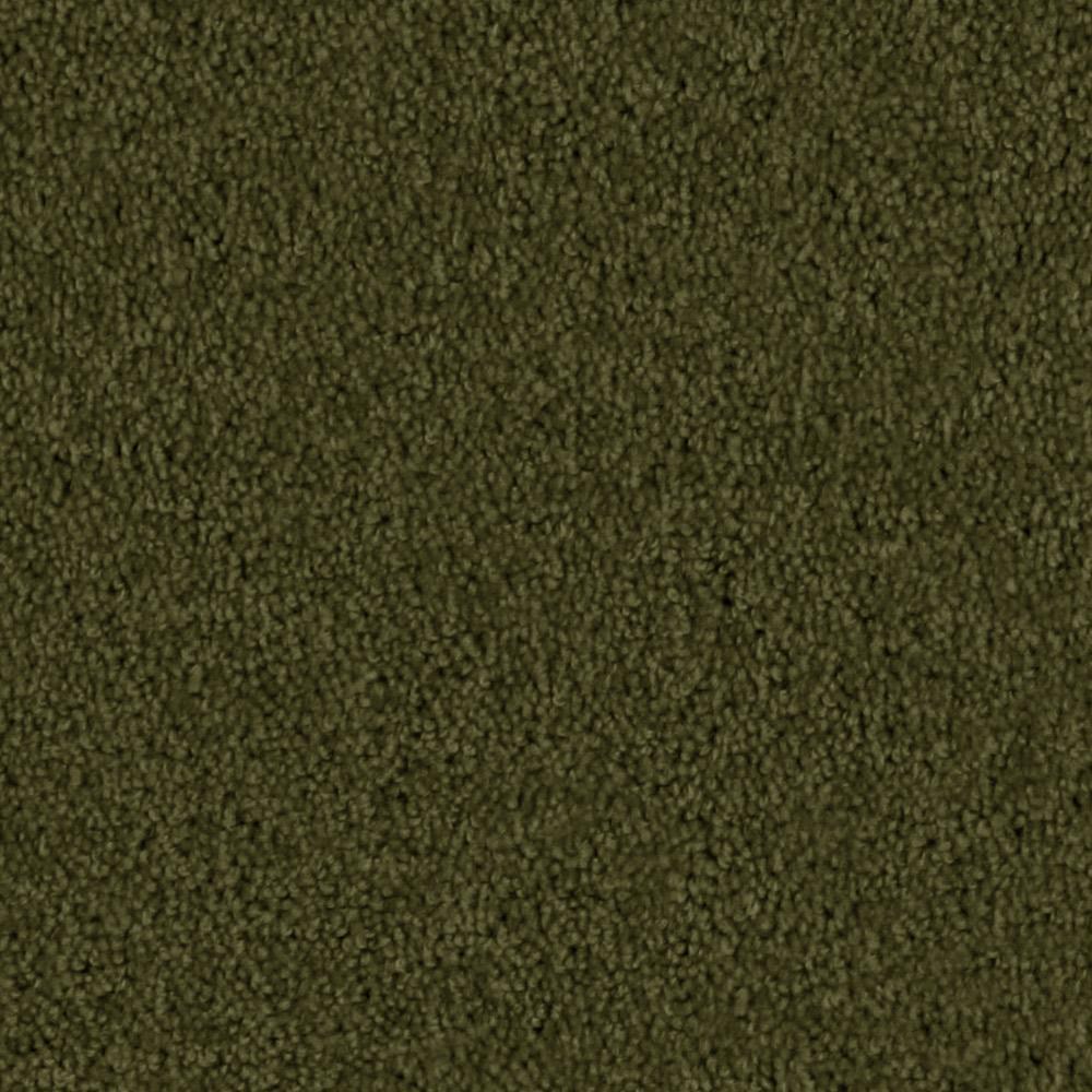 Carpet Sample - Team Builder - In Color Olive Grove 8 in. x 8 in.