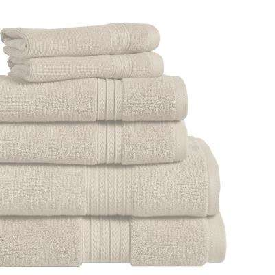 Summit 6-Piece 100% Cotton Bath Towel Set in Creme