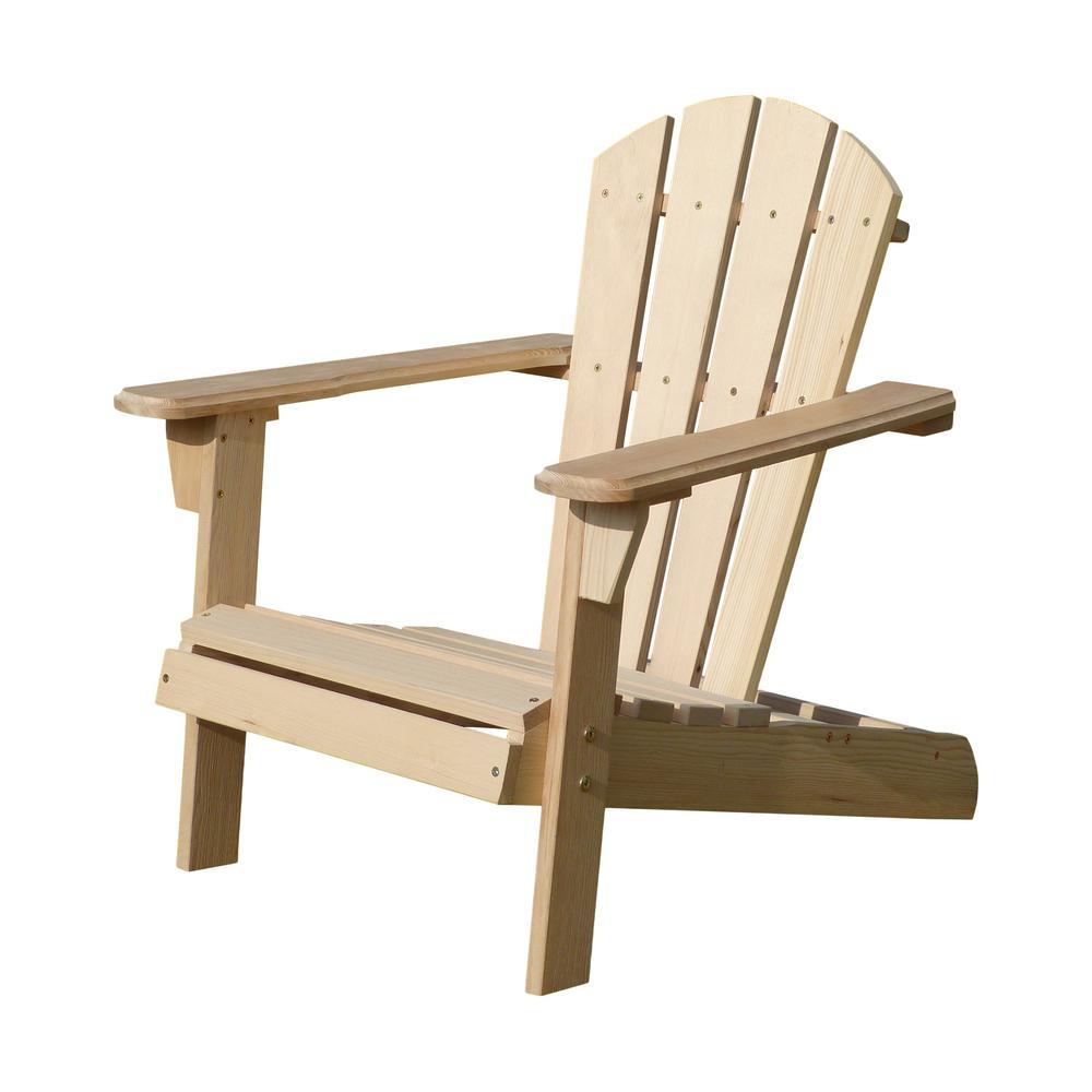 Internet 304009506 unfinished wood kids adirondack chair kit