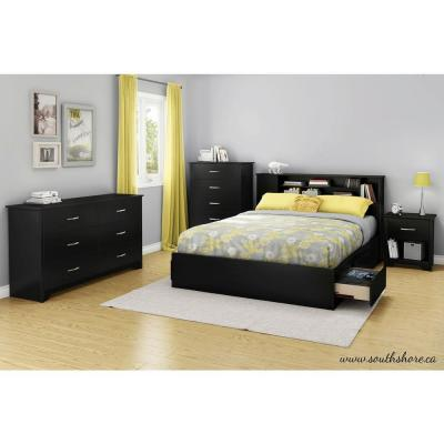 Fusion 6-Drawer Pure Black Dresser