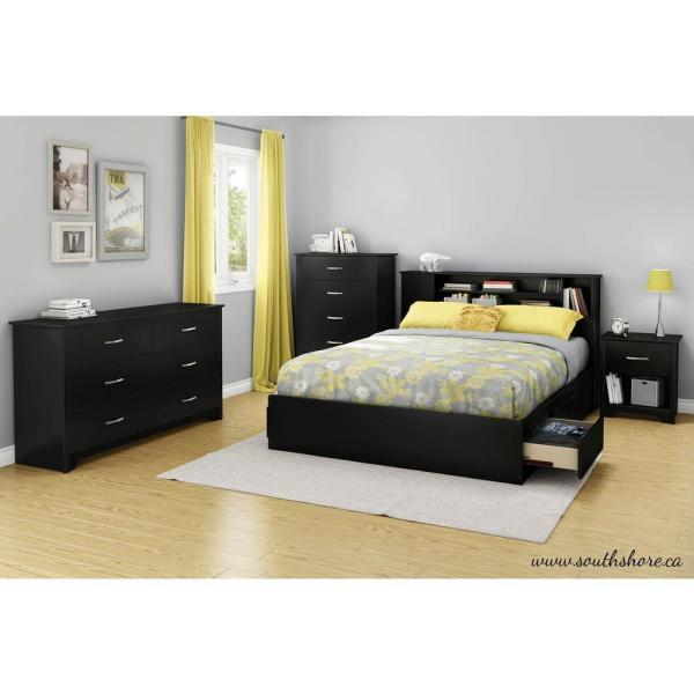 Fusion 6-Drawer Pure Black Dresser