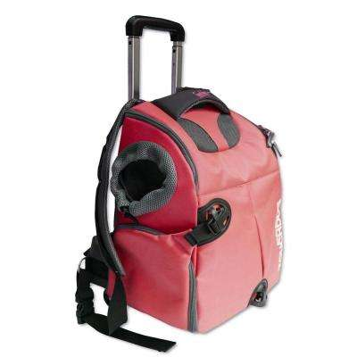 Red Wuffle Duffle Wheeled Backpack Pet Carrier