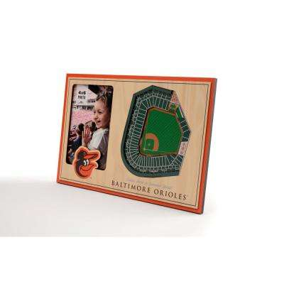 MLB Baltimore Orioles Team Colored 3D StadiumView with 4 in. x 6 in. Picture Frame
