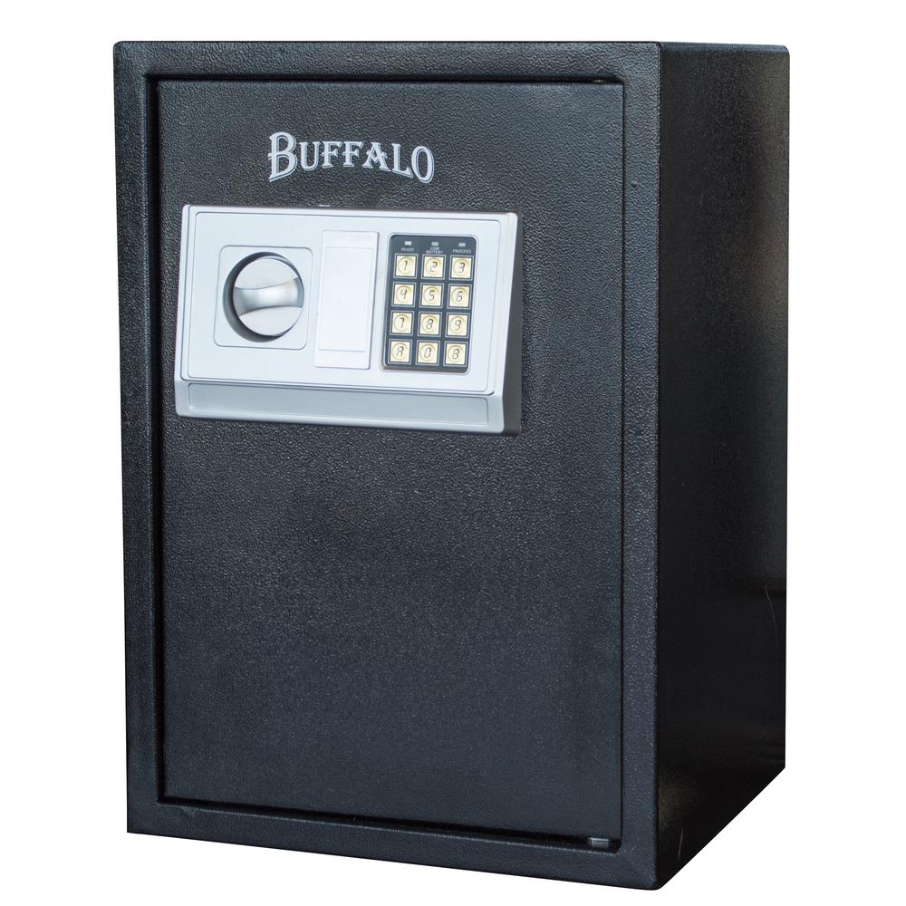 BUFFALO 1.5 cu. ft. Floor Safe with Electronic Lock in Black