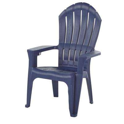Marvelous Big Easy Midnight Resin Plastic Adirondack Chair