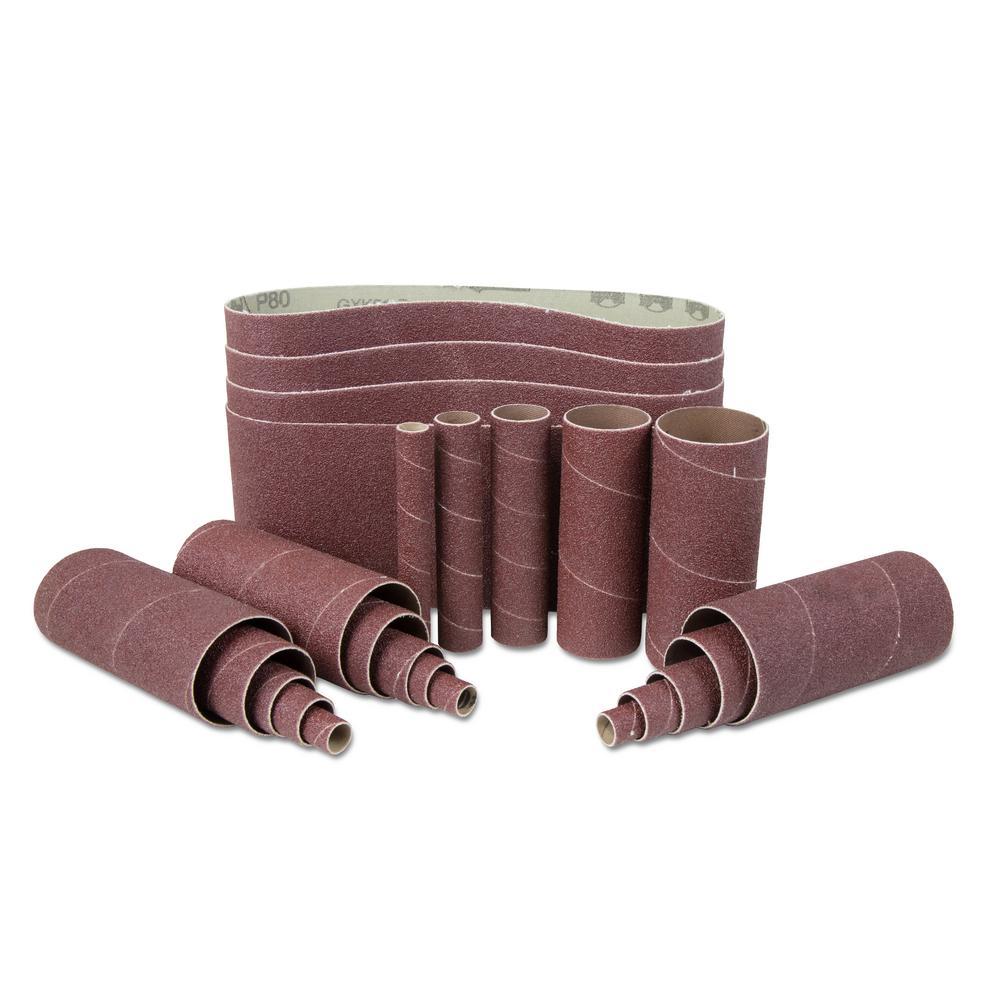 Wen 80-Grit Combination Belt and Sleeve Sandpaper Set (24-Pack) by WEN