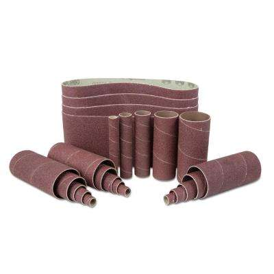 80-Grit Combination Belt and Sleeve Sandpaper Set (24-Pack)