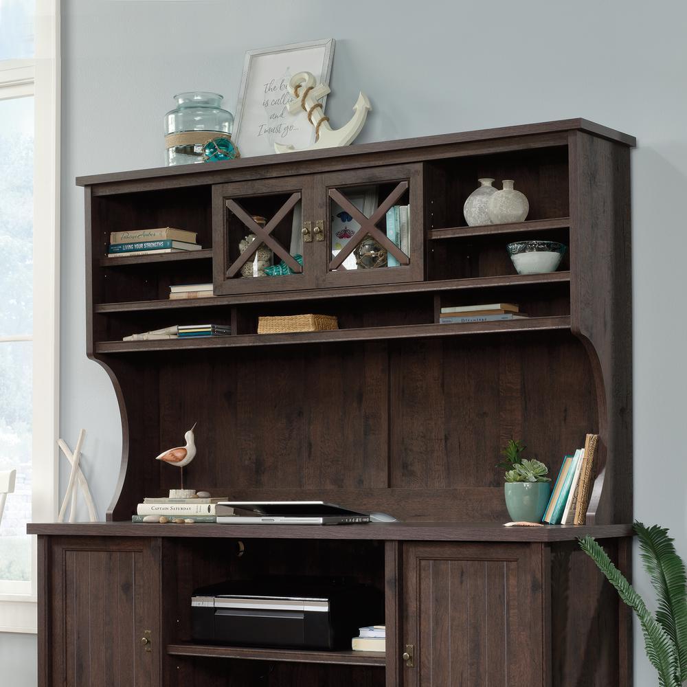 Costa Coffee Oak Organizer Desk Hutch