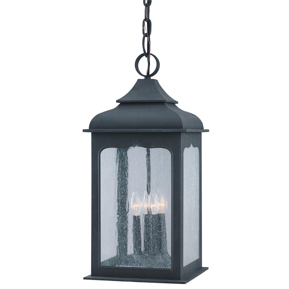 Troy Lighting Henry Street 4-Light Colonial Iron Outdoor Pendant