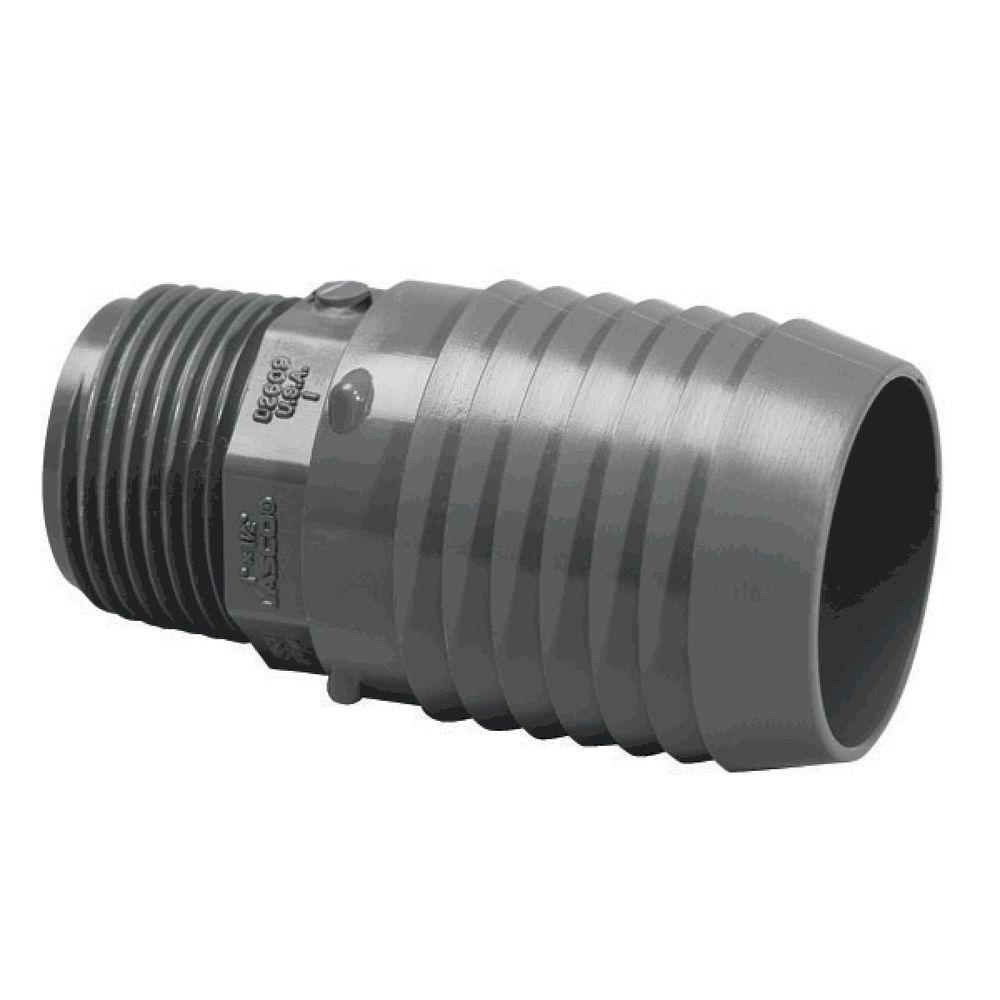 1-1//2 MIPT x PVC Insert Male Adapter