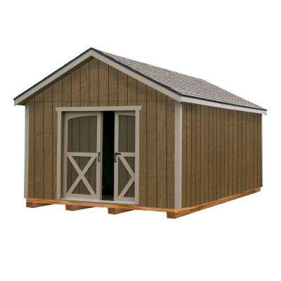North Dakota 12 ft. x 16 ft. Wood Storage Shed Kit with Floor Including 4 x 4 Runners