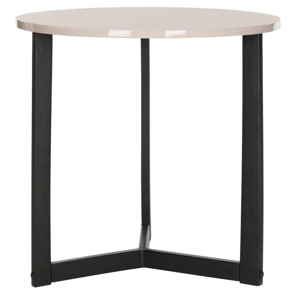 Ballard Taupe and Black End Table