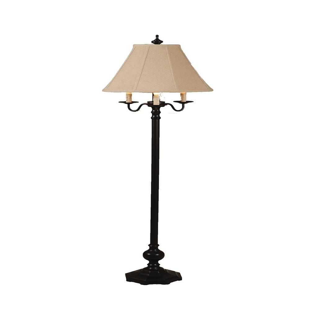 59 in. Black Floor Lamp