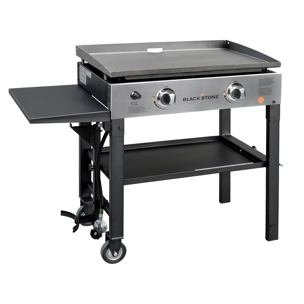 Pro Series 28 in. 2-Burner Griddle Propane Cooking Station in Black
