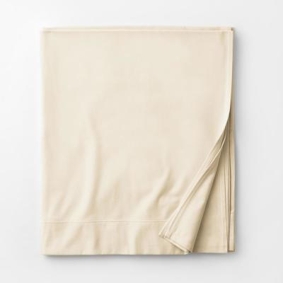 Legacy Velvet Flannel Cream Solid Extra Deep King Flat Sheet