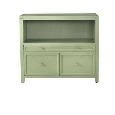 Craft Space 42 in. x 36.5 in. Rhododendron Leaf 2-Door Combination File and Open Storage Base
