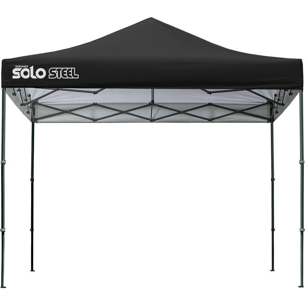 Solo100 10 ft. x 10 ft. Black Straight Leg Canopy
