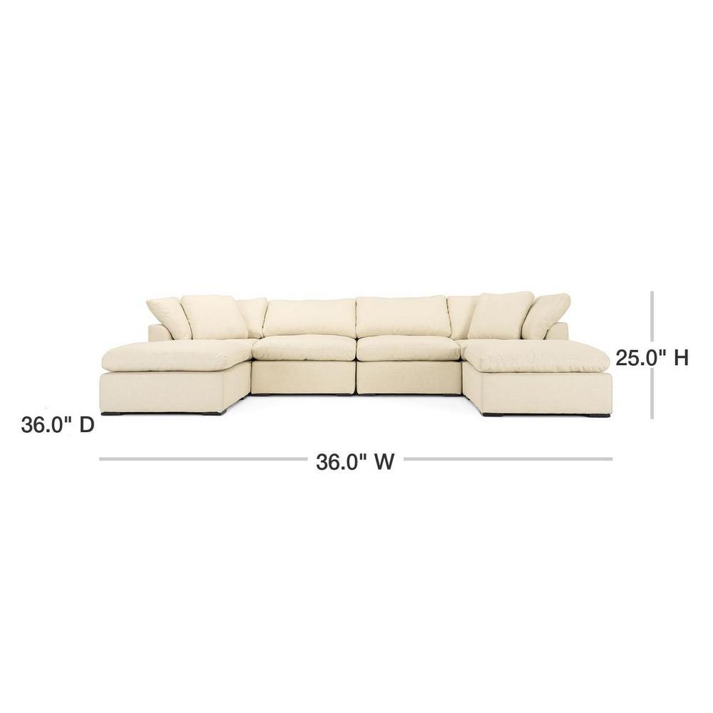 Rst Brands Aria 6 Piece Beige Sofa And