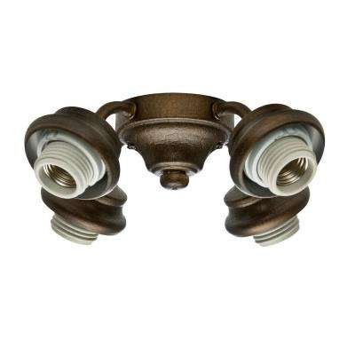 2.25 in. 4-Light Provence Crackle Bronze Arm Light Fitter