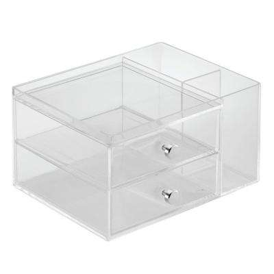 Clarity Stacking Drawers with Side Organizer in Clear