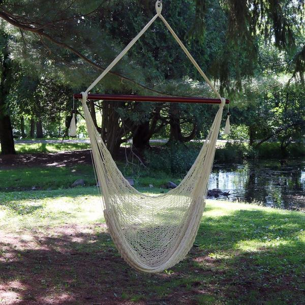 Sunnydaze Decor Hanging Cabo 6 Ft X Large Hammock Chair In Cream