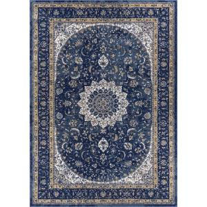 Luxbury Mahal Traditional Vintage Persian Oriental Blue 9 ft. 3 in. x 12 ft. 3 in. Area Rug
