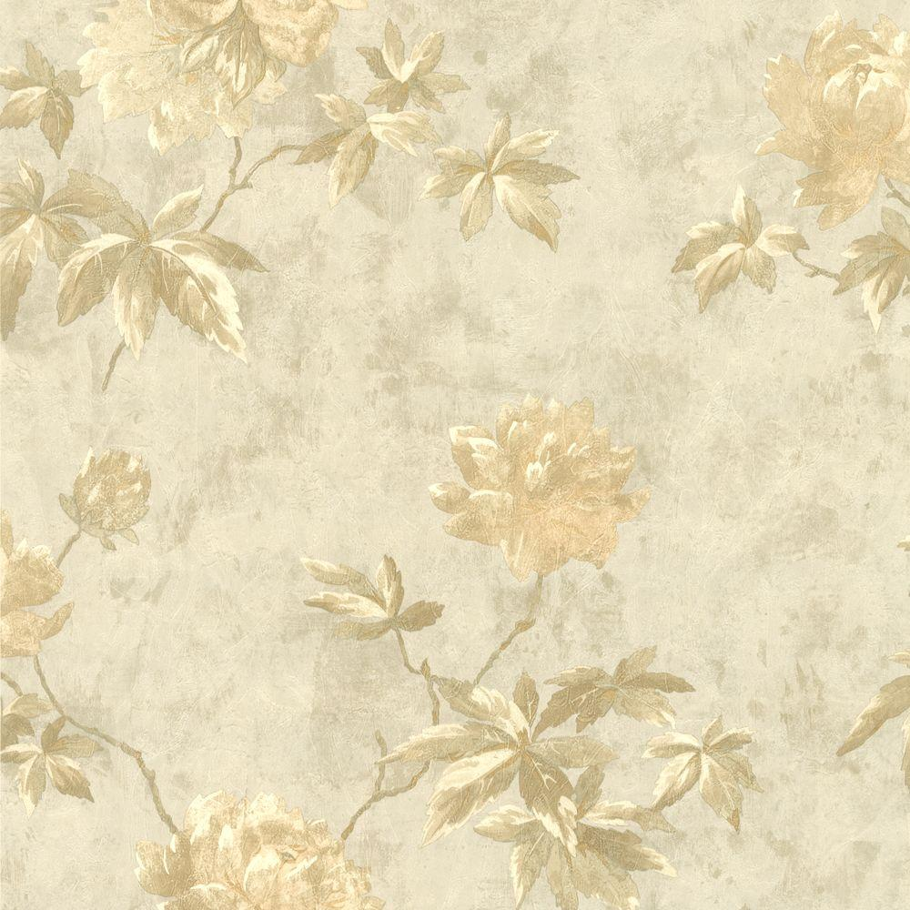 Carmela Silver Floral Wallpaper 414 54263 The Home Depot