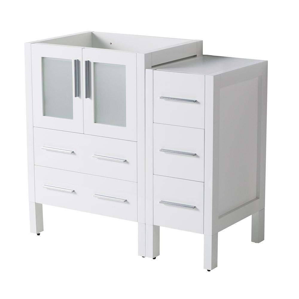 36 in. Torino Modern Bathroom Vanity Cabinet in White