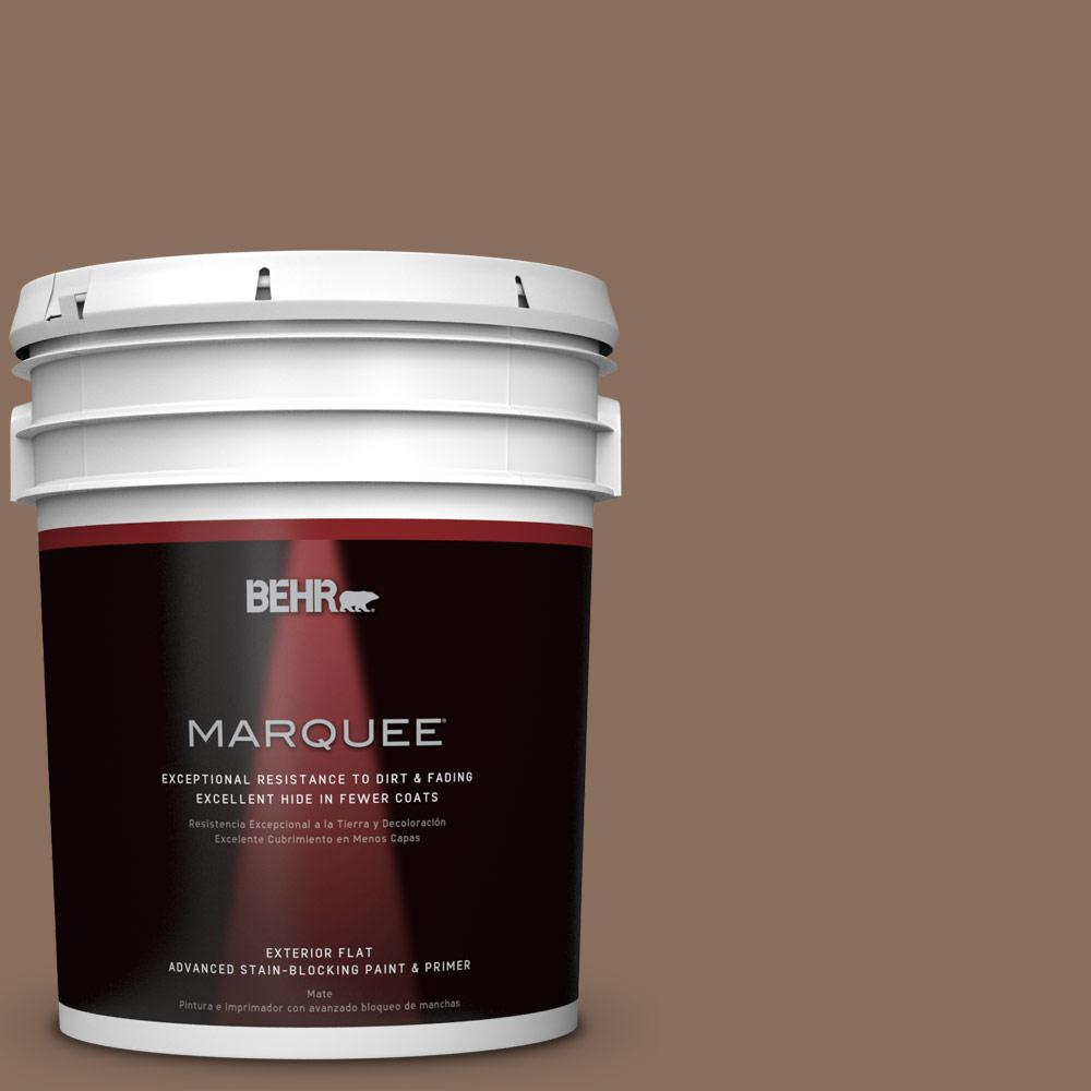 5-gal. #N190-6 Nut Brown Flat Exterior Paint