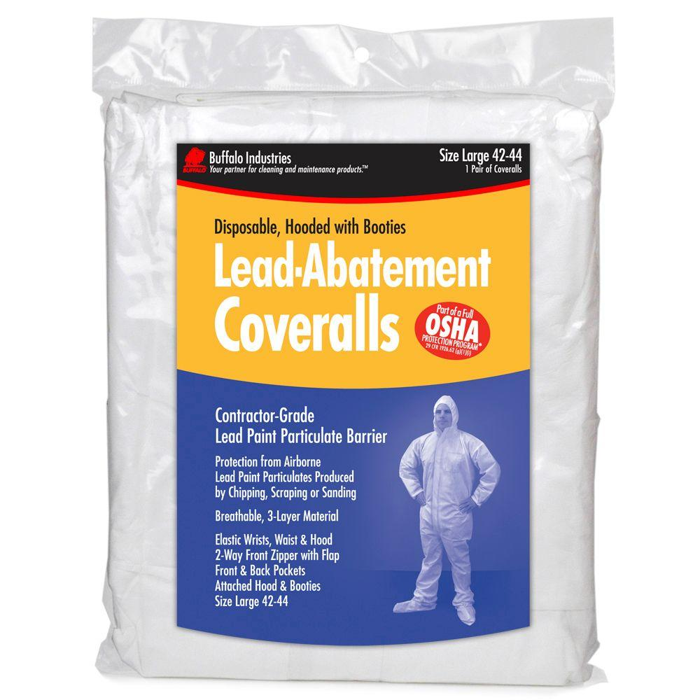 Buffalo Industries White Unisex Large Lead Abatement Coveralls