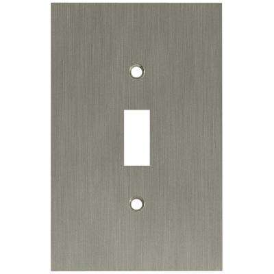 Concave Decorative Single Switch Plate, Satin Nickel