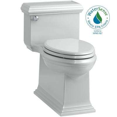 Memoirs Classic 1-Piece 1.28 GPF Single Flush Elongated Toilet in Ice Grey