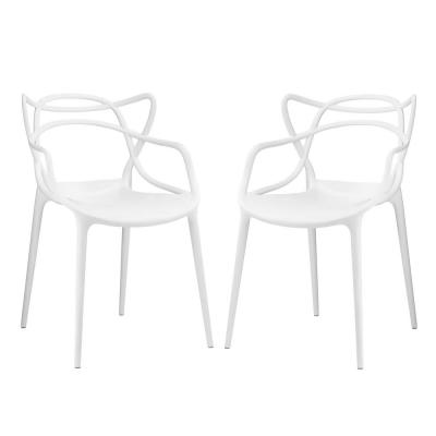 White Entangled Dining Chairs (Set of 2)