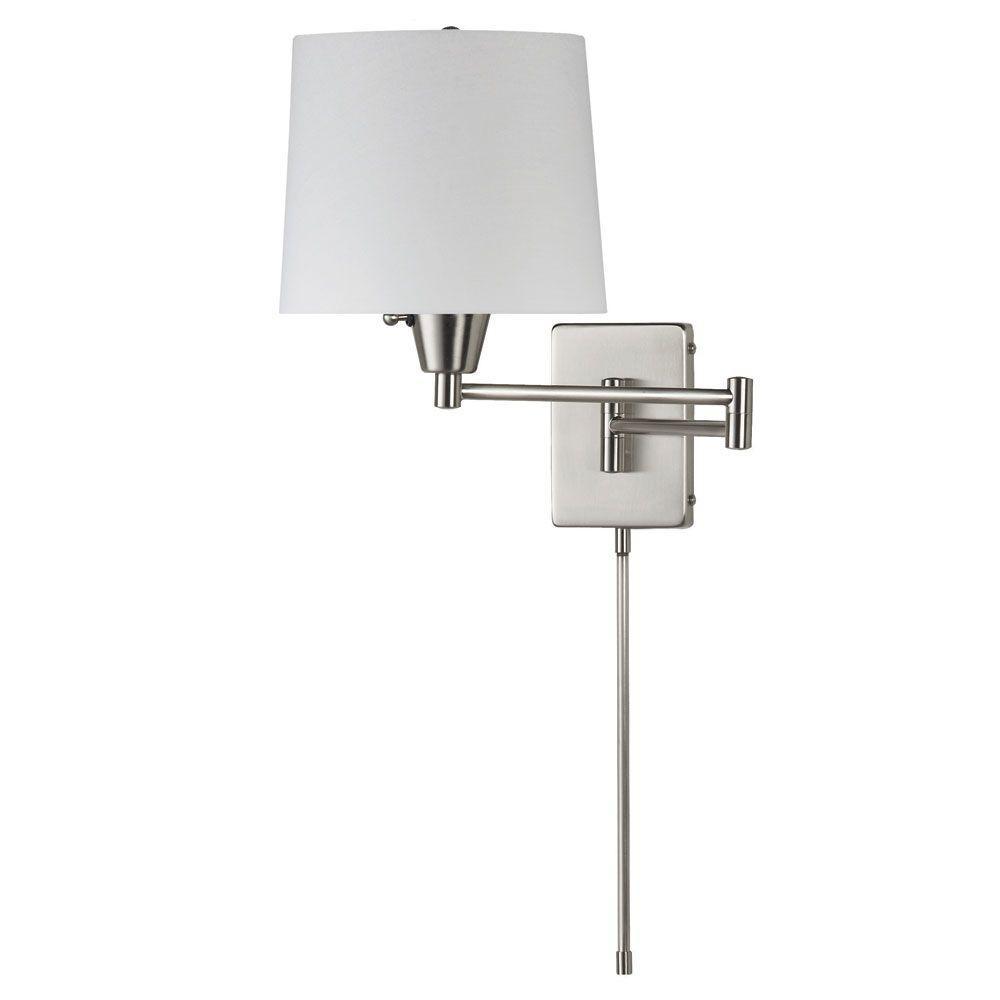 Radionic Hi Tech Sabau 1 Light Satin Chrome Wall Lamp