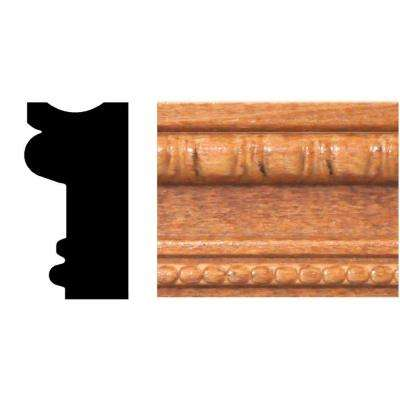 3/4 in. x 1-1/2 in. x 8 ft. Hardwood Stained Cherry Embossed Detail Moulding