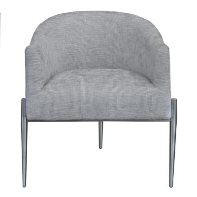 Jolie Contemporary Silver Fabric Upholstered Accent Chair