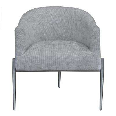 Angelina Contemporary Silver Fabric Upholstered Accent Chair